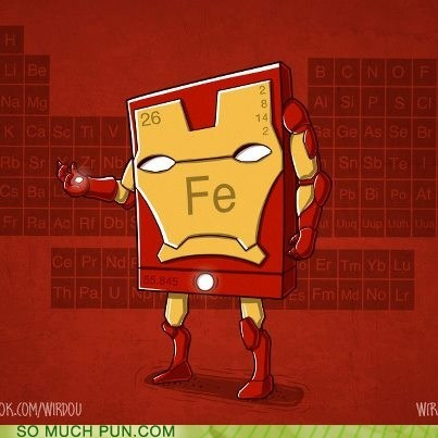iron man,iron,element,fe,double meaning,literalism,T.Shirt
