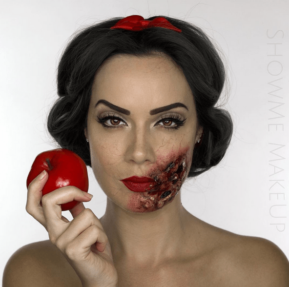 This Woman's Zombie Disney Princess Makeup Will Make You Mourn for Your Childhood