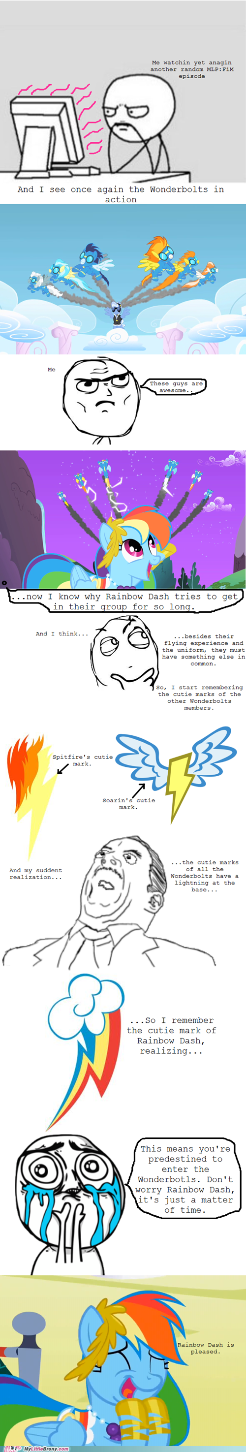 comic wonderbolts Bronies TV realization rainbow dash