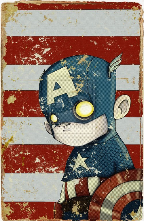 captain america creepy awesome art - 6648891392