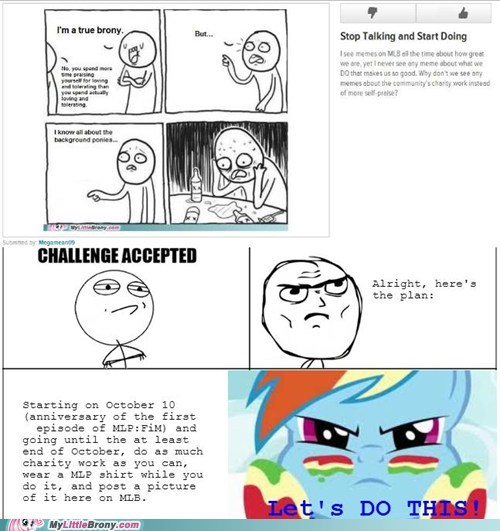 my little brony,Challenge Accepted,charity,post it