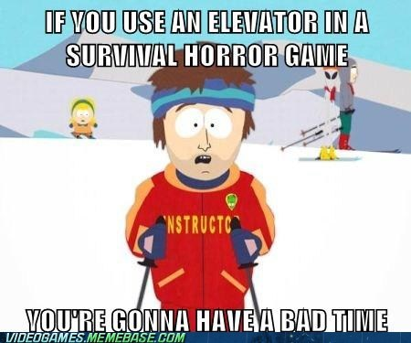 survival horror,meme,elevator,super cool ski instructor,categoryvoting-page