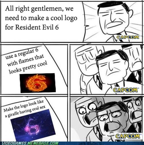 capcom,resident evil 6,meme,logo