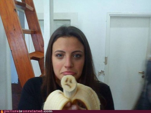 sad panda,banana,frown