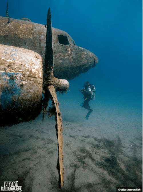 photography plane scuba diving