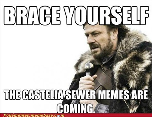 black and white 2 meme brace yourself castelia sewers - 6650297856