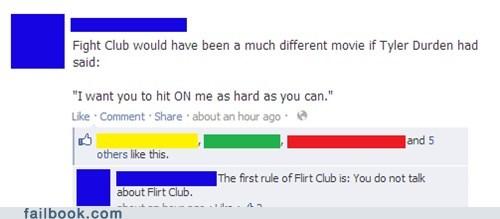fight club flirt club tyler durden first rule of fight club - 6650357760