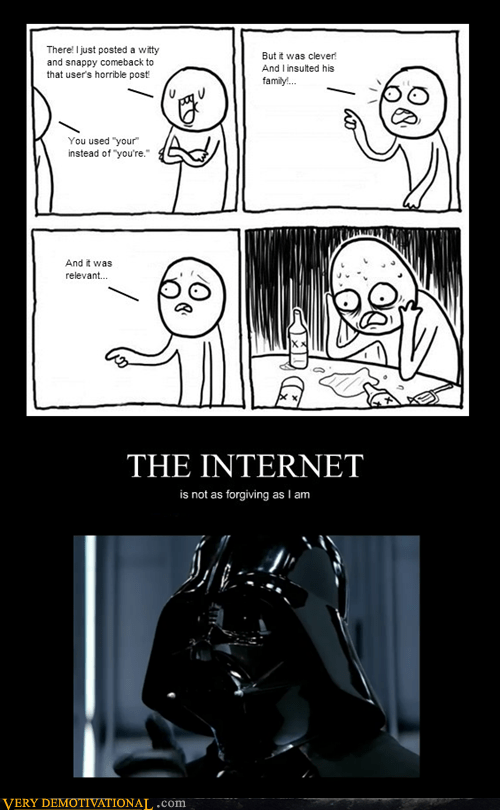 internet,unforgiving,darth vader,grammar