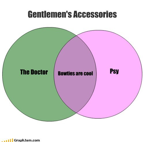 gentlemen doctor who psy bowties venn diagram endorsements categoryimage - 6650697216