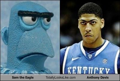 Sam The Eagle Totally Looks Like Anthony Davis Totally