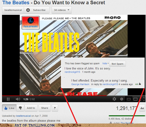 the Beatles,george harrison,john lennon,youtube
