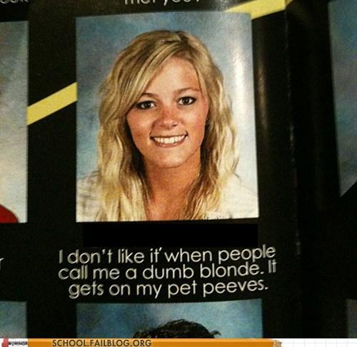 yearbook club blonde pet peeves gets on my pet peeves - 6651354880