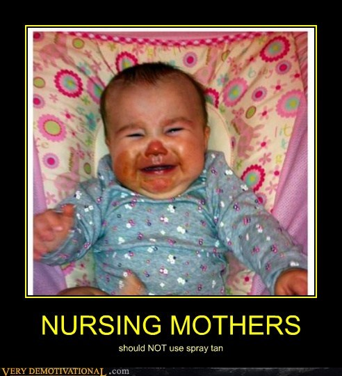 nursing mothers,baby,spray tan