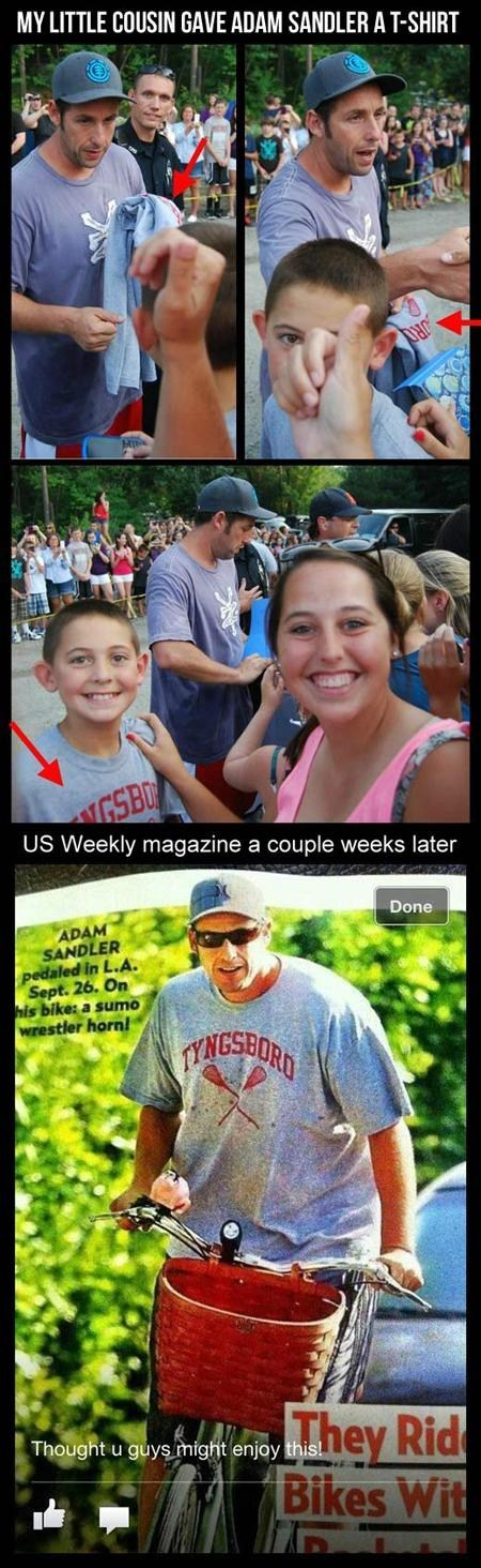 adam sandler,Good Guy Greg,fans,shirt,news