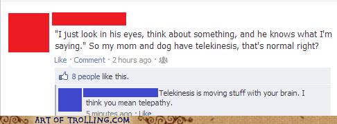 telekinesis,telepathy,facebook