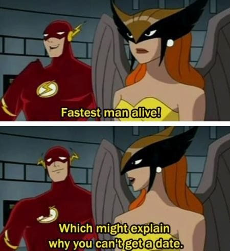hawk girl,the flash,fastest man alive,get a date