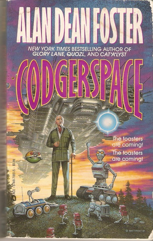 wtf codger old man science fiction cover art book covers robots - 6652465152