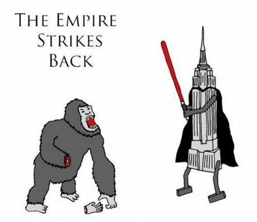 Empire Strikes Back,star wars,empire state building,king kong,literalism,double meaning