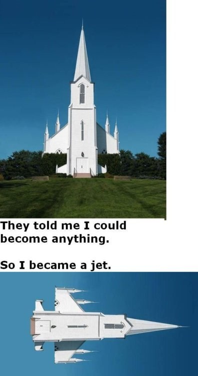 church jet plane they told me i could be anything uplifting categoryimage - 6652830720