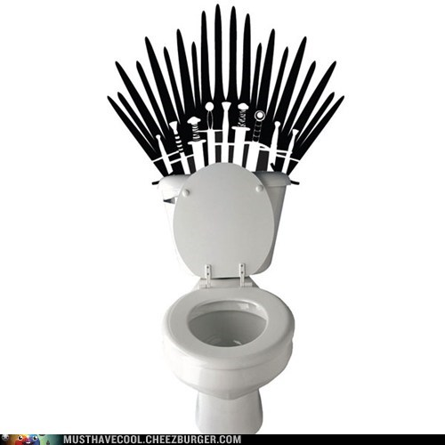 Game of Thrones decal throne swords toilet wall