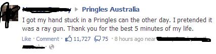 pringles,ray gun,pringles can,mega man