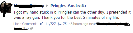 pringles ray gun pringles can mega man - 6652896256