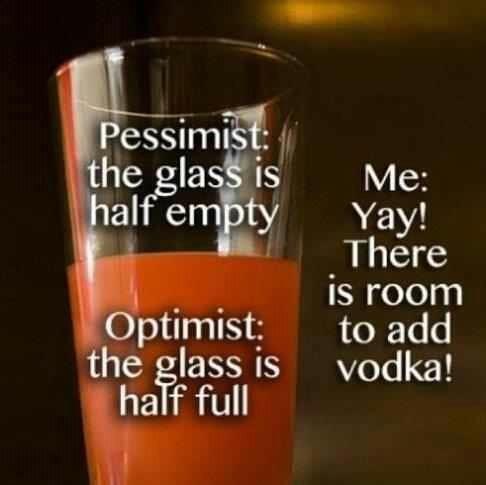 mixed drinks vodka half empty half full - 6652935936