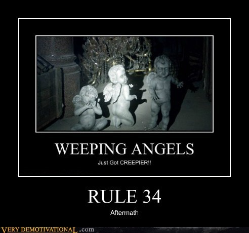 weeping angels,kids,horrifying