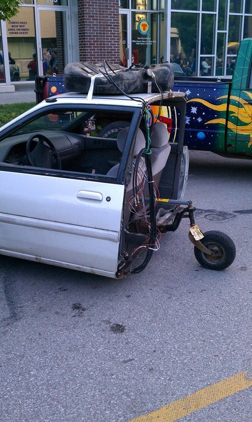 car half-car car fix car fail tricycles extreme tricycles