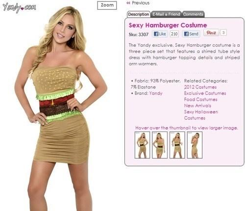 costume hamburger not sexy halloween - 6653056512