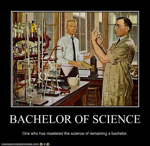 joke bachelor science Chemistry alone