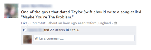 taylor swift,facebook