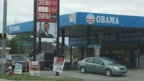 obama,gas,gas station,politics,weird,what,best of week,Hall of Fame