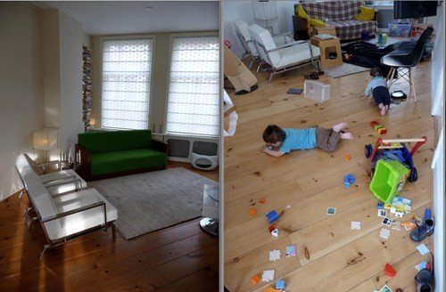 before and after kids,messy,toys everywhere,parenting