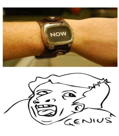 watch genius genius guy genius meme wristwatch - 6653439488