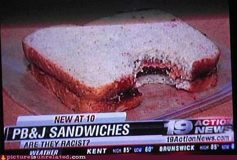 PB&J news racism food TV pbj