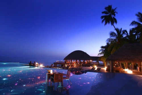 resort hotel maldives beach pool - 6653695744