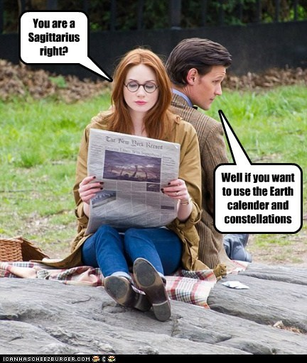 karen gillan the doctor Matt Smith constellations amy pond Sagittarius horoscopes earth newspaper - 6653774848