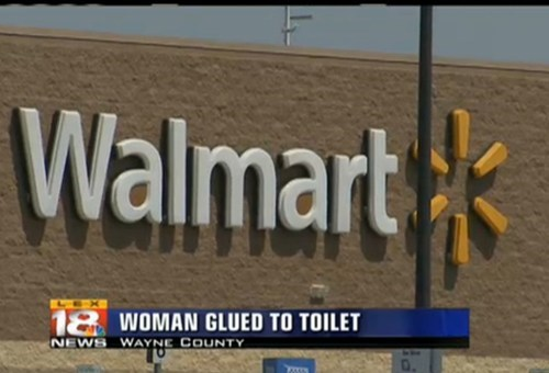 Walmart toilet news headline
