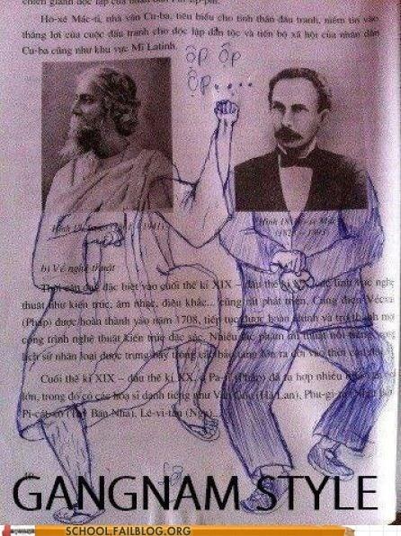 gangnam style textbook test humor - 6654457088