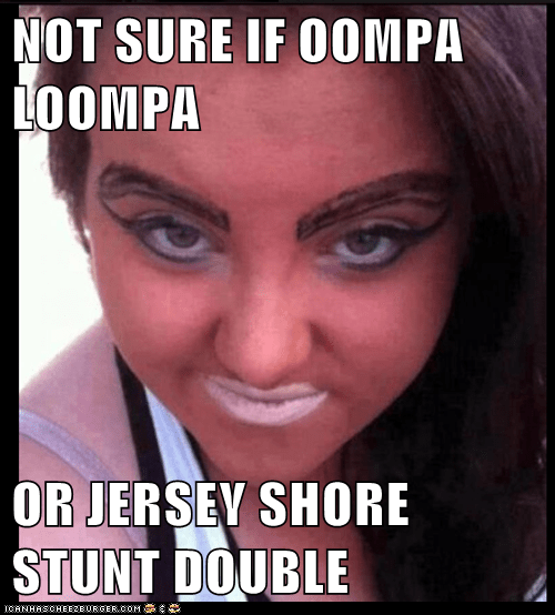 oompa loompa snooki jersey shore orange make up - 6654500096