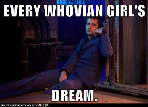 fantasy dream David Tennant the doctor Whovian doctor who handcuffs girl