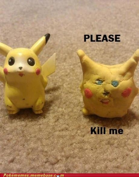 pikachu Sad scary IRL not gonna catch that
