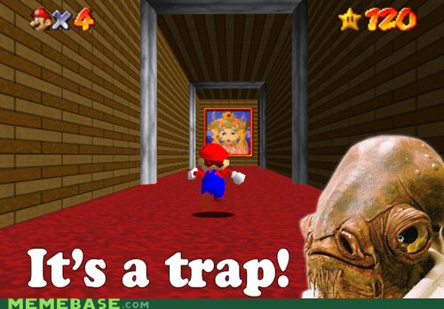 admiral ackbar,its a trap,mario,princess peach,mario 64
