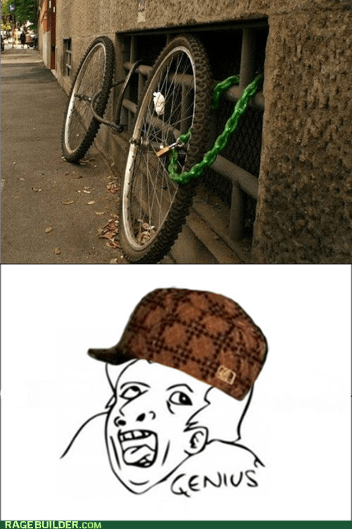 scumbag hat,genius,bike,tires,bike lock