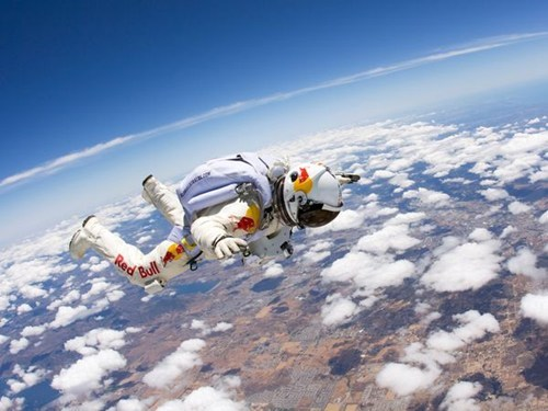 Live Free Fall From Space of the Day
