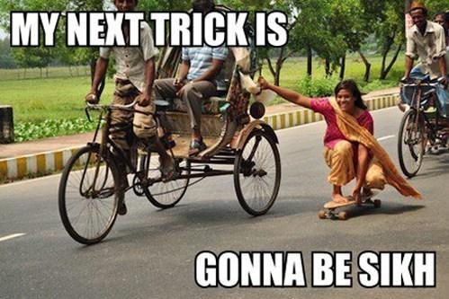 sikh katchera the five ks jokes skateboard Memes - 6655764224