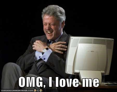 bill clinton hugging omg love self love happy laughing - 6655790080