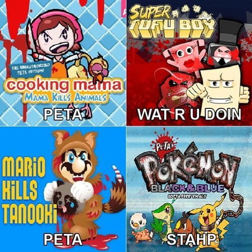 peta Pokémon parody video games animals - 6655857664