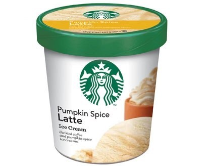 pumpkin spice latte ice cream Starbucks